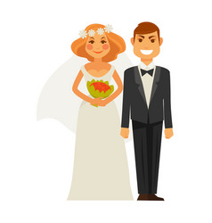 Wedding photography picture shot bride and groom vector