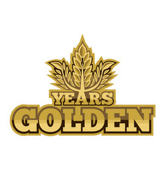Golden years vector