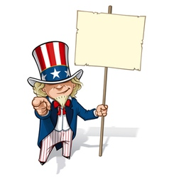 Uncle sam i want you placard vector