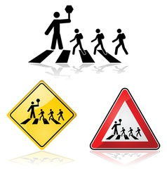 Street crossing vector