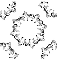 Seamless zebra pattern vector