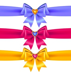 bows heart color vector image