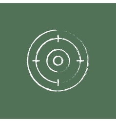 Target board icon drawn in chalk vector
