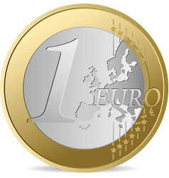 one euro vector image