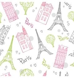 Travel Romantic Paris Streets Seamless vector image
