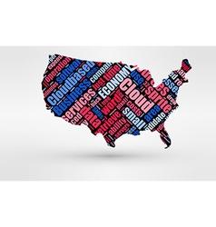 Map of USA Theme of economy and global finance vector image