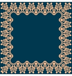 Frame with abstract pattern vector