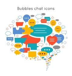 Chat flat composition vector