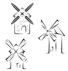 Set mills logos vector
