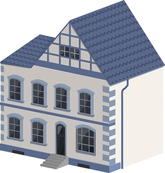 Blue and white cottage vector