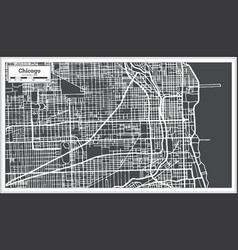 Chicago illinois usa map in retro style vector