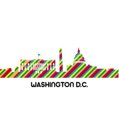 cityscape of washington dc vector image vector image