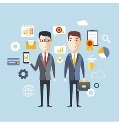 Concept of Successful Partnership vector image