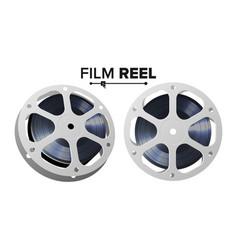 film reel retro movie object classic vector image