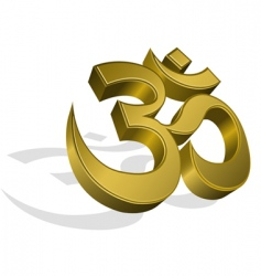 golden om symbol vector image
