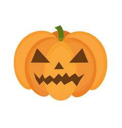 halloween pumpkin icon flat style isolated on vector image vector image
