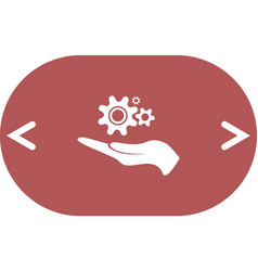 hand and mechanism icon vector image vector image