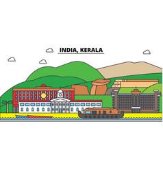 India kerala hinduism city skyline vector