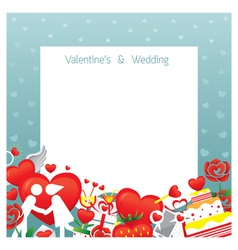 Love Border Frame vector image vector image