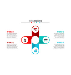 medical and healthcare infographic vector image