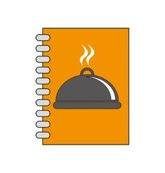 Menu plate book restaurant design vector