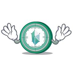 Mocking kyber network mascot cartoon vector