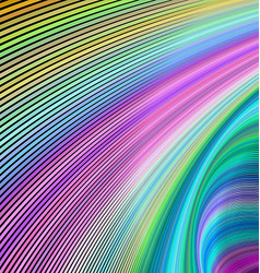 Multicolored fractal curve background design vector