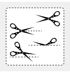 scissors cut outs vector image vector image