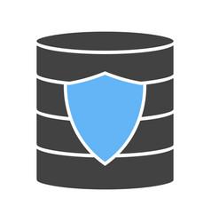 secured backup vector image