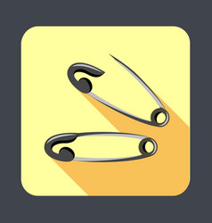 sewing safety pin concept background cartoon vector image