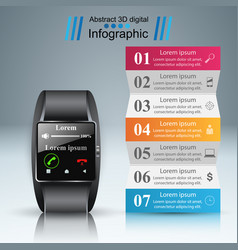 Smartwatch icon abstract infographic vector