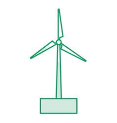 Windmill energy alternative icon vector