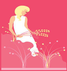 WOMAN-IN-NATURE-2 vector image vector image
