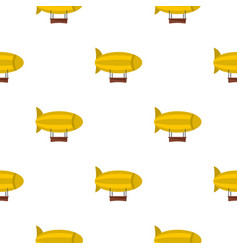 Yellow airship pattern seamless vector