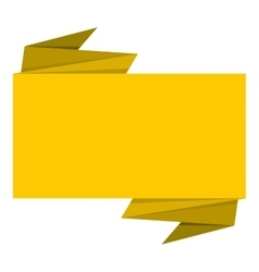 Yellow banner icon flat style vector
