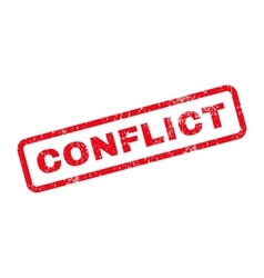 Conflict text rubber stamp vector