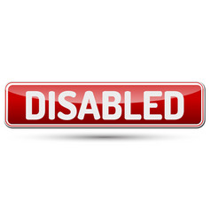 Disabled - abstract beautiful button with text vector
