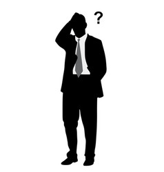 businessman with problems vector image