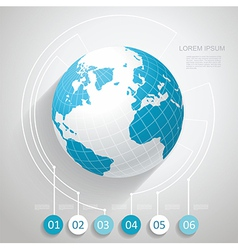 World globe with number stickers vector