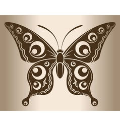 Monochrome butterfly vector image