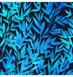 Watercolor bamboo seamless pattern vector