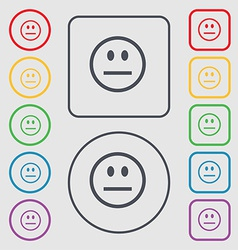 Sad face sadness depression icon sign symbol on vector