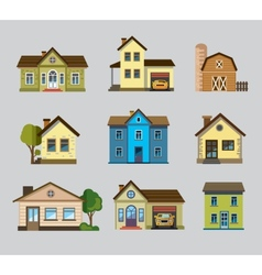 Colourful home icon vector