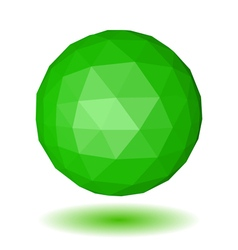 Abstract green low polygonal sphere vector