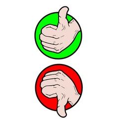 Like and dislike symbols vector