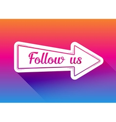 Follow us icon vector
