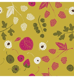 abstract fruit wallpaper vector image