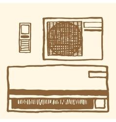 Air conditioner Vintage style vector image
