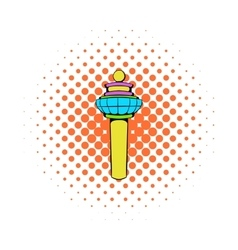 Airport control tower icon comics style vector