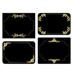 black and gold frames - set vector image vector image